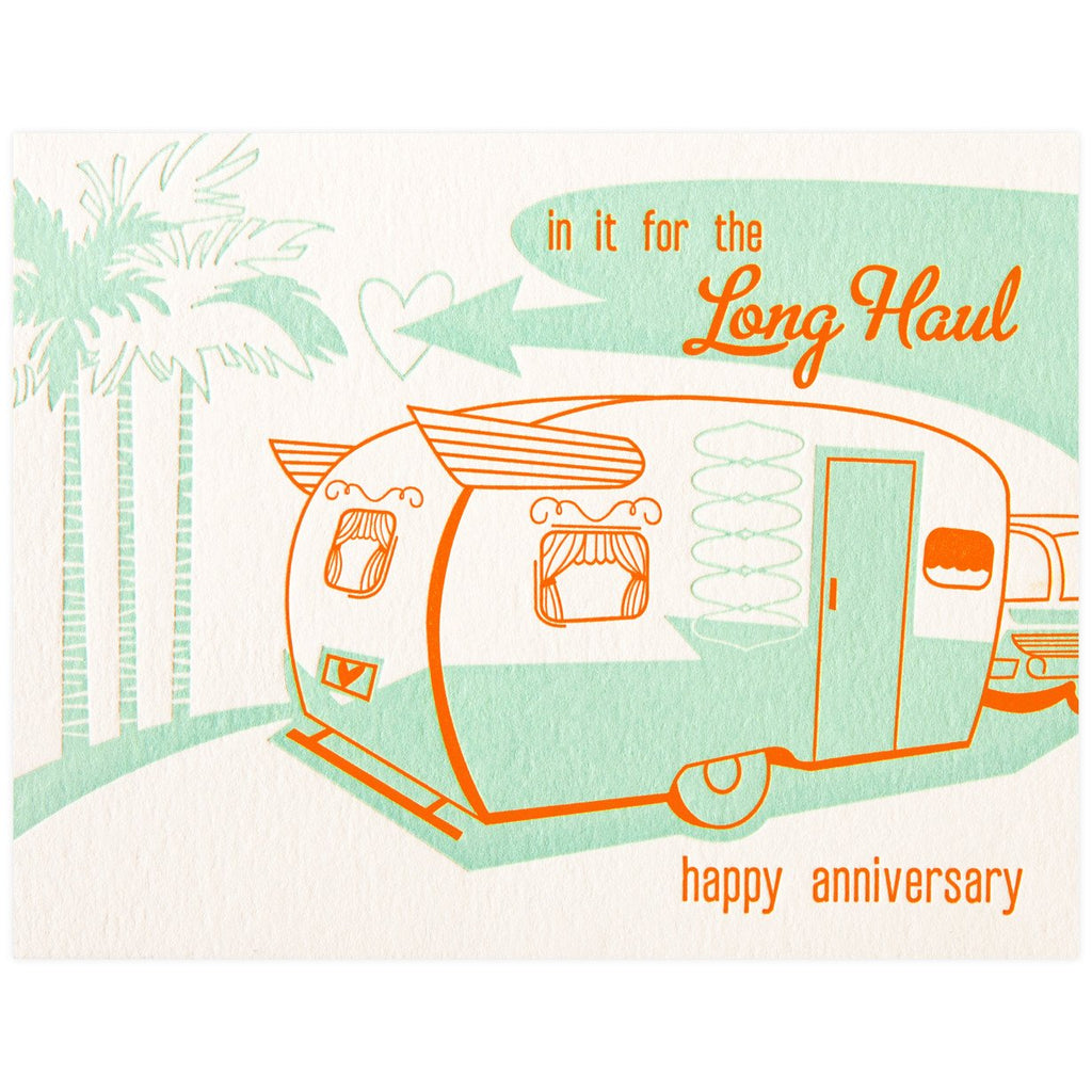Paper Parasol Press Long Haul Anniversary Card - GREER Chicago Online Stationery Shop