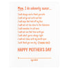 Loudhouse Creative Mom Contract Mother's Day Card - GREER Chicago Online Stationery Shop
