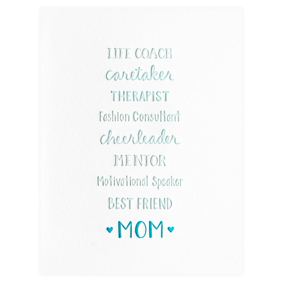 Loudhouse Creative Mom Titles Mother's Day Card - GREER Chicago Online Stationery Shop