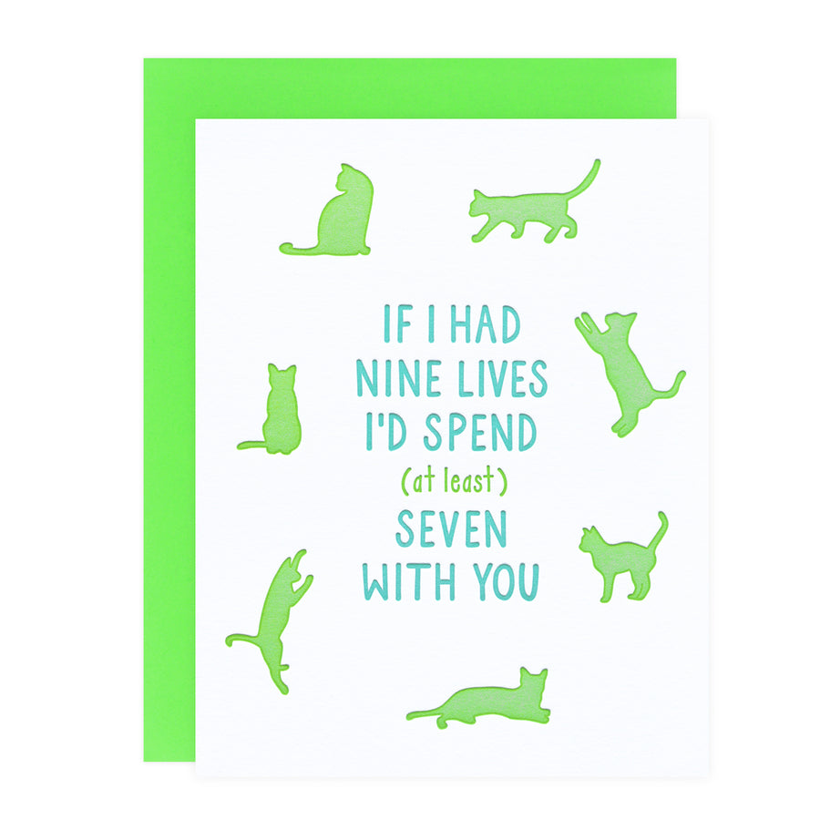 Nine Lives Love Greeting Card Loudhouse Creative  - GREER Chicago