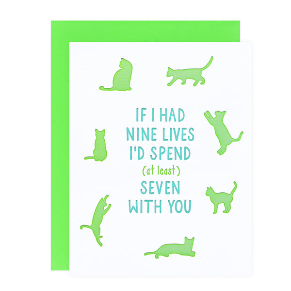 Loudhouse Creative Nine Lives Love Greeting Card - GREER Chicago Online Stationery Shop