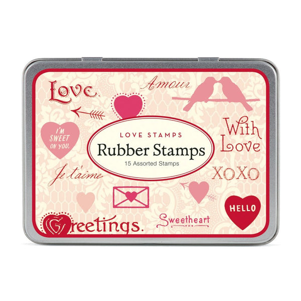 Love Rubber Stamp Set By Cavallini - 1