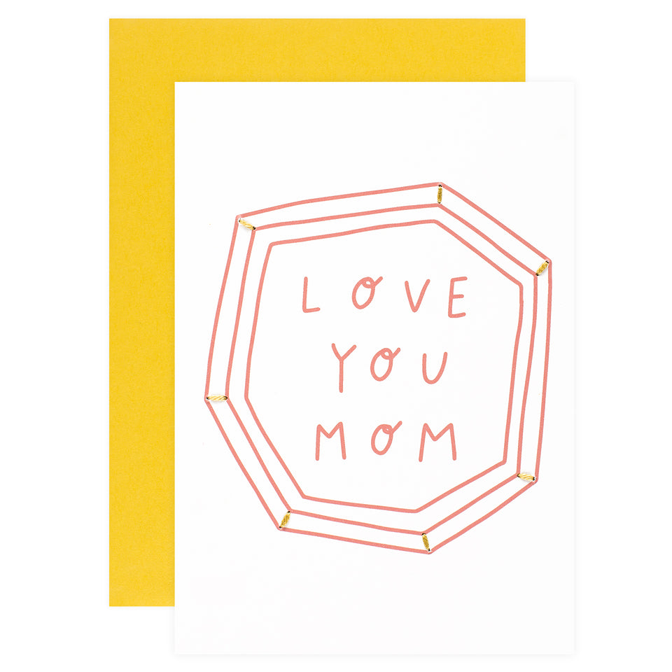 Allie Biddle Love You Mom Mother's Day Card