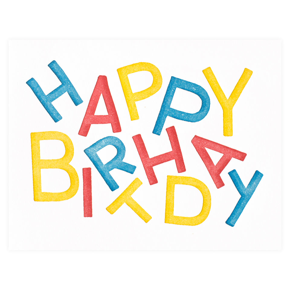Loyal Supply Co. Birthday Letter Jumble Greeting Card