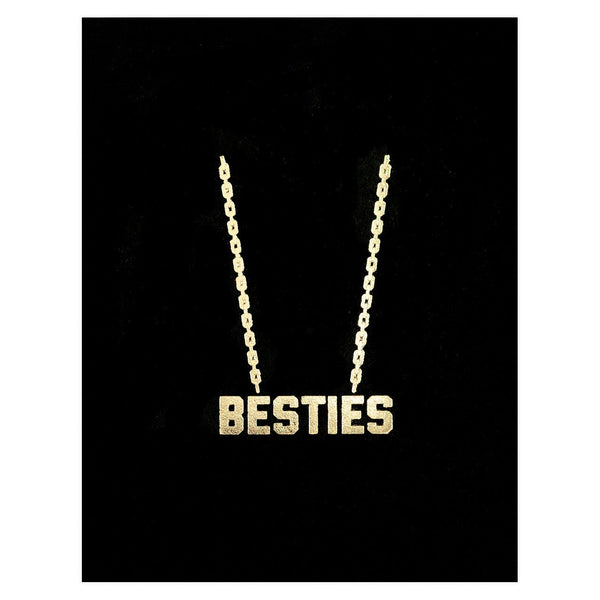 Lucky Horse Press Besties Gold Chain Greeting Card - GREER Chicago Online Stationery Shop