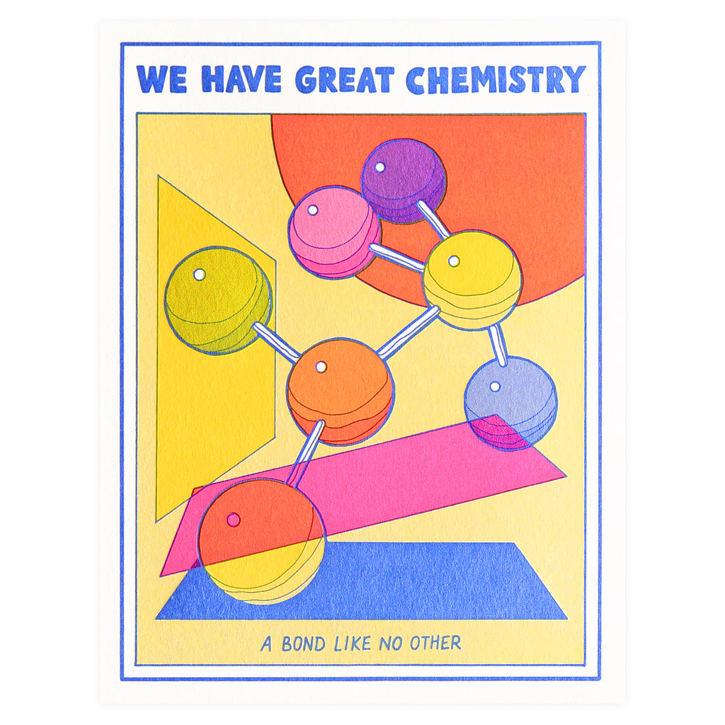 Lucky Horse Press We Have Great Chemistry Greeting Card