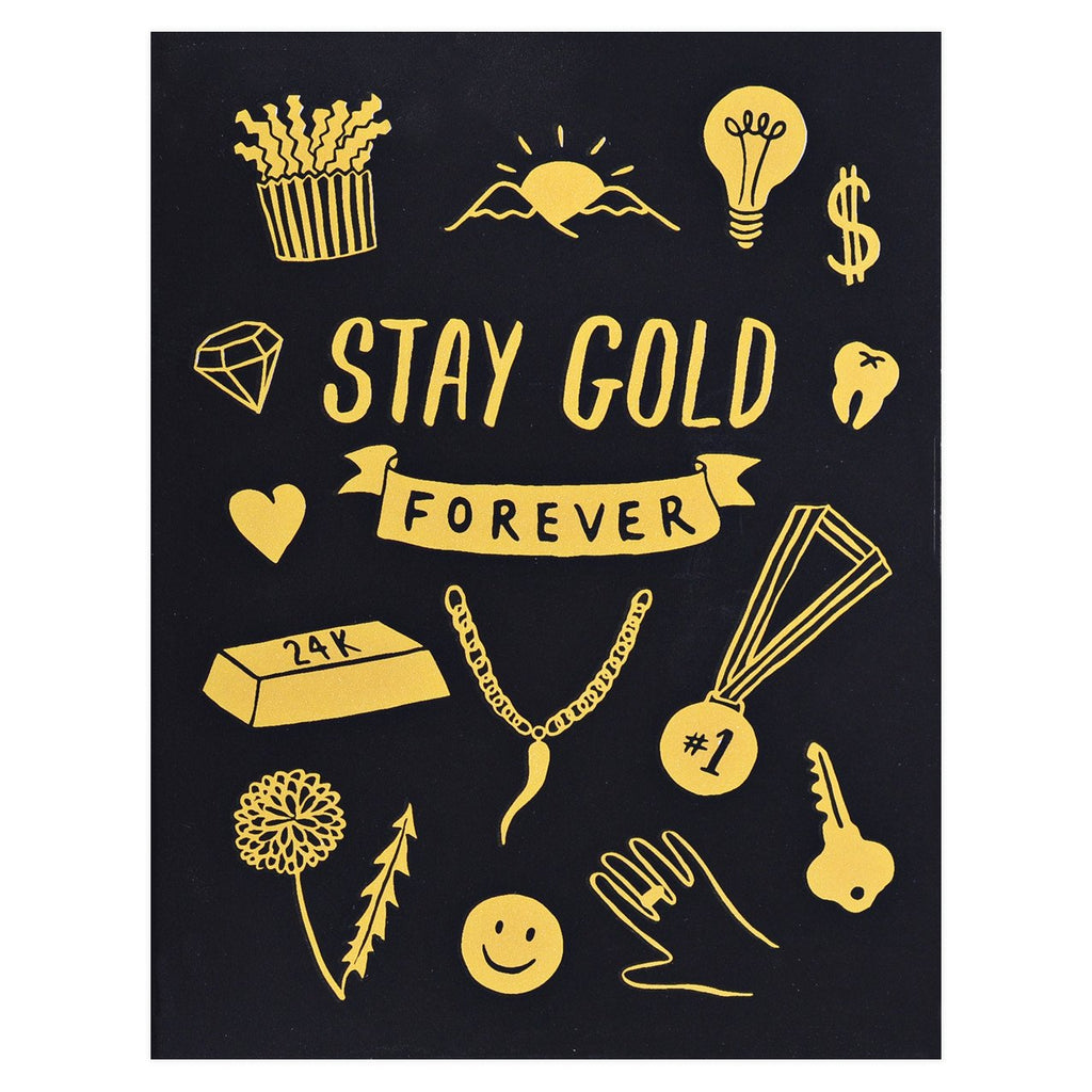 Lucky Horse Press Stay Gold Forever Greeting Card - GREER Chicago Online Stationery Shop