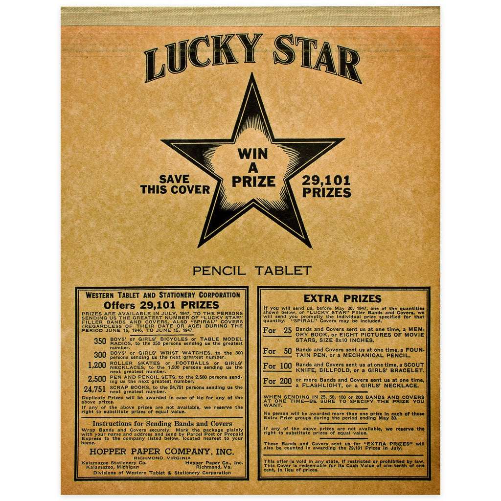 Lucky Star Vintage Tablet No. 2 By Vintage - 1