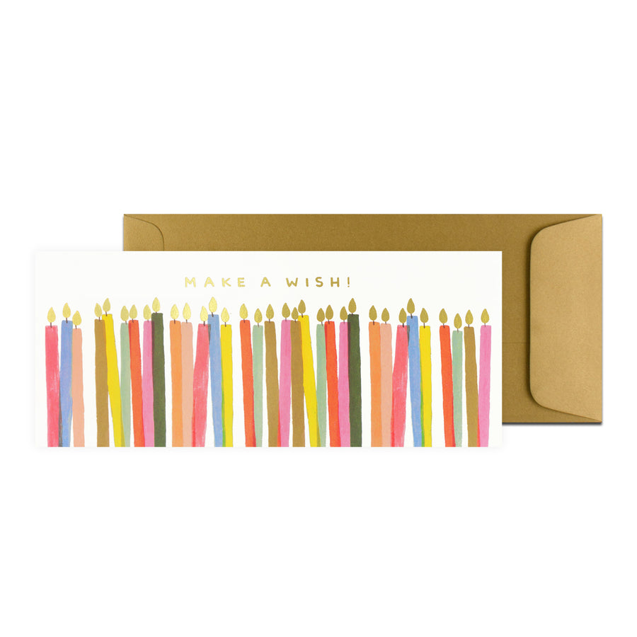 Rifle Paper Co. Make A Wish Candles Birthday Card - GREER Chicago Online Stationery Shop