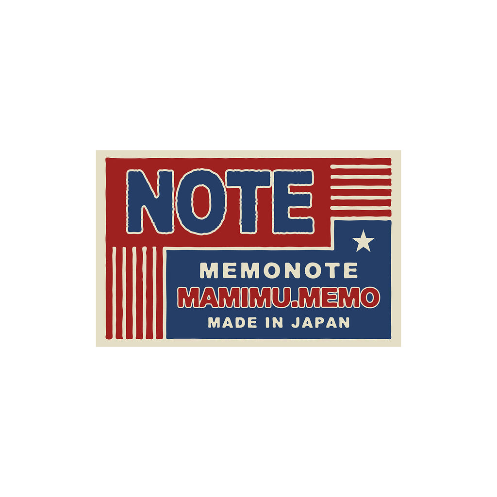 Shunkoen Mamimu American Vintage Matchbox Design Mini Memo Notebook | Ten Designs Note Flag Style