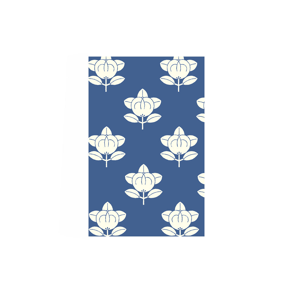 Shunkoen Mamimu Japanese Classic Motifs Mini Memo Notebook | Six Designs Blue Lotus