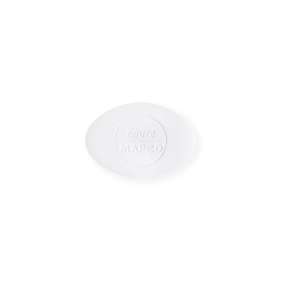 Maped Epure Eraser in Two Shapes White Oval