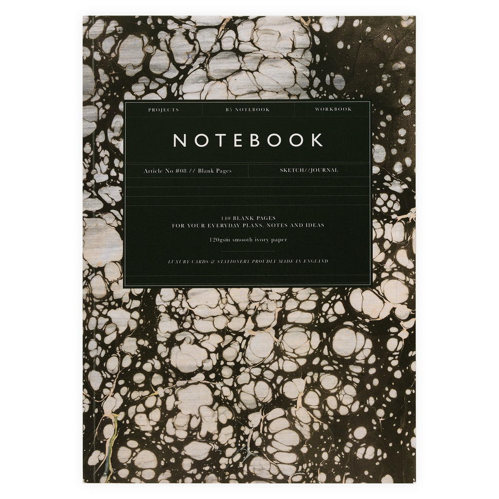 Katie Leamon Marble Article No. 08 Large Notebook Blank