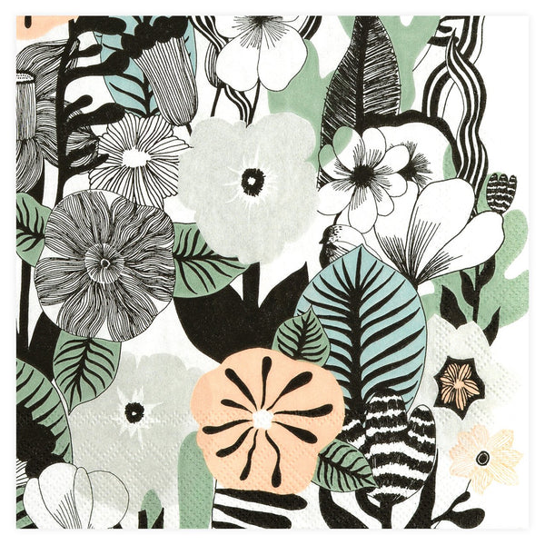 IDR Marimekko Kasvu Beverage Cocktail Napkin - GREER Chicago Online Stationery Shop