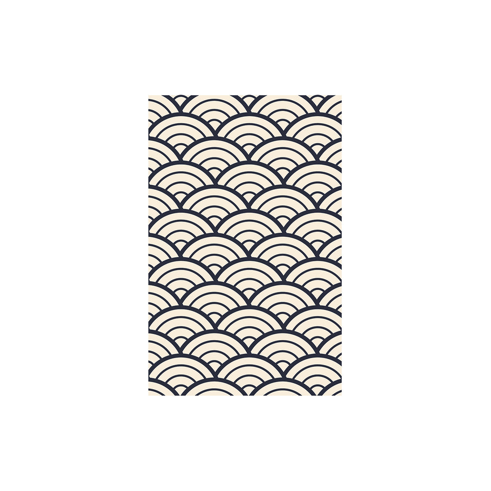 Shunkoen Mamimu Japanese Classic Motifs Mini Memo Notebook | Six Designs Monochrome Waves