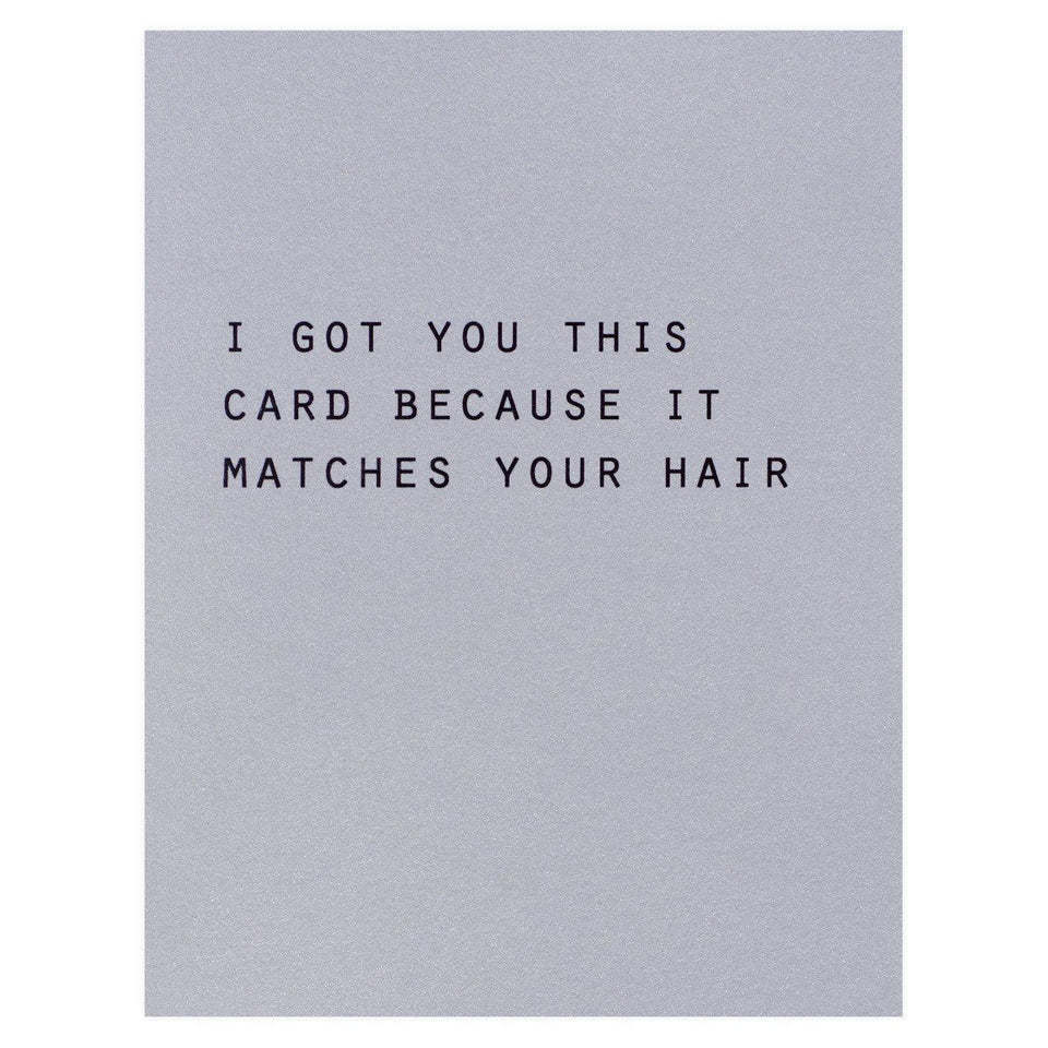 Blingbebe Matches Your Hair Birthday Card