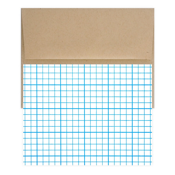 Graph Paper Boxed Folded Note Cards By Meeschmosh - 1