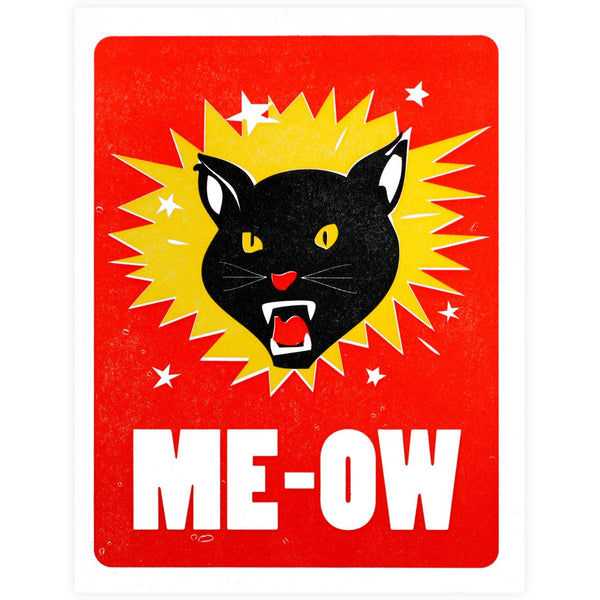 Me-Ow Card By Power & Light Press