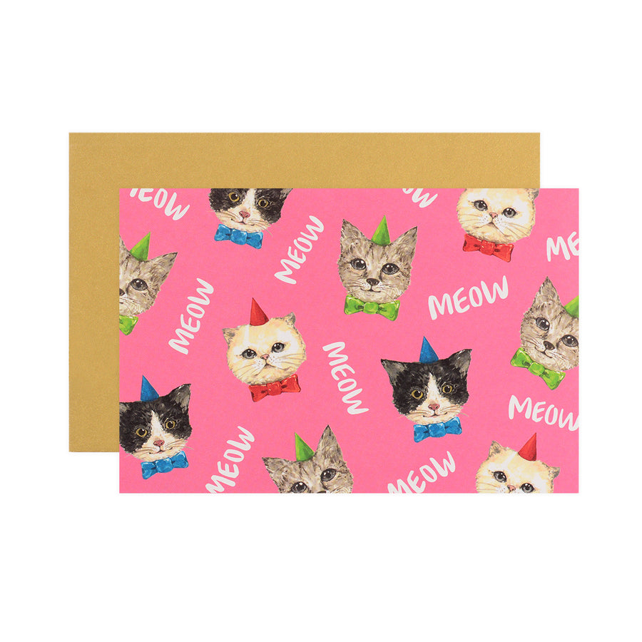 Hadron Epoch LA Meow Pattern Birthday Card