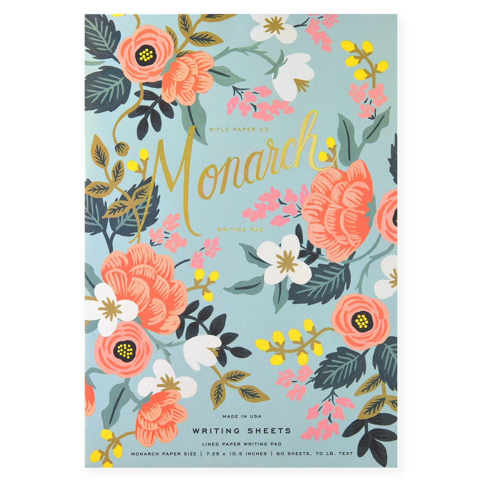 Rifle Paper Co. Mint Birch Monarch Writing Pad and Envelopes Pad