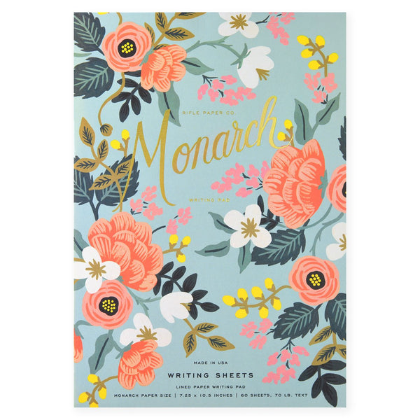 Rifle Paper Co. Mint Birch Monarch Writing Pad and Envelopes - GREER Chicago Online Stationery Shop