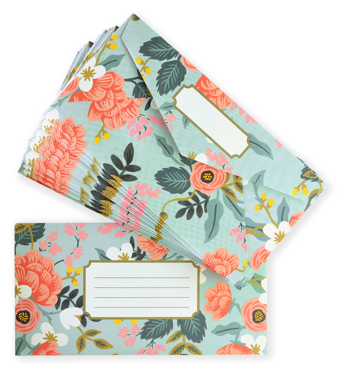 Mint Birch Monarch Writing Pad and Envelopes