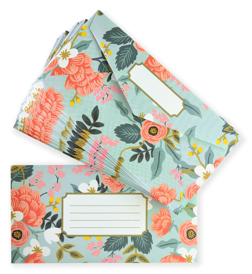 Rifle Paper Co. Mint Birch Monarch Writing Pad and Envelopes Envelopes