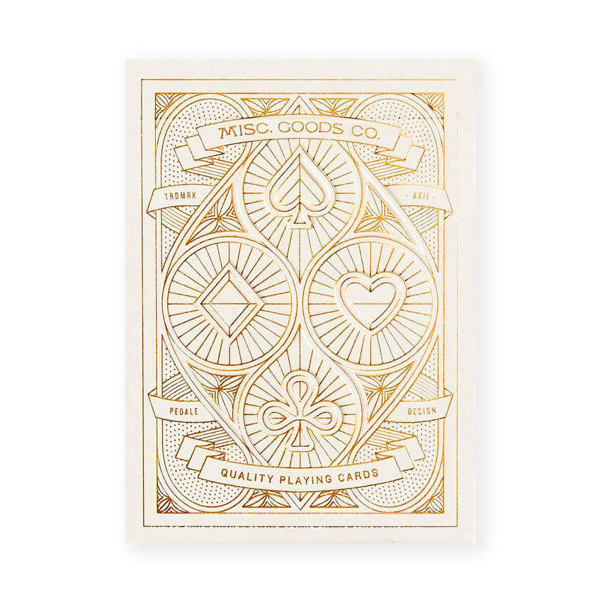 Misc. Goods. Co. Misc. Goods Co. Ivory Playing Cards