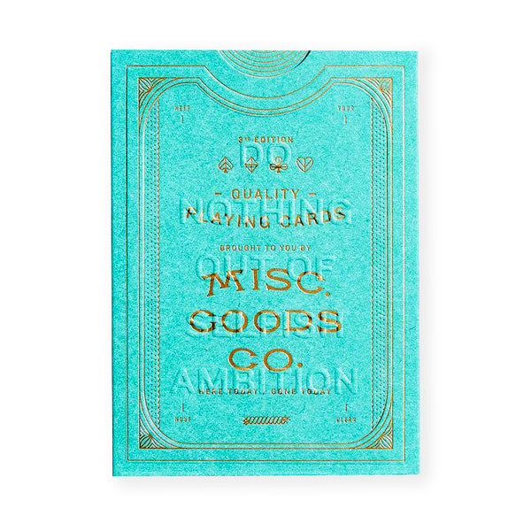 Misc. Goods. Co. Misc. Goods Co. Green Playing Cards - GREER Chicago Online Stationery Shop