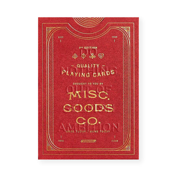Misc. Goods. Co. Misc. Goods Co. Red Playing Cards - GREER Chicago Online Stationery Shop