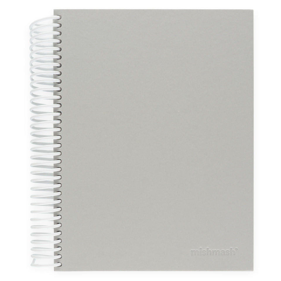 mishmash Easy Breezy Notebook | Lavender Dot Grid, Sky Blue Lined or Grey Blank Grey Blank
