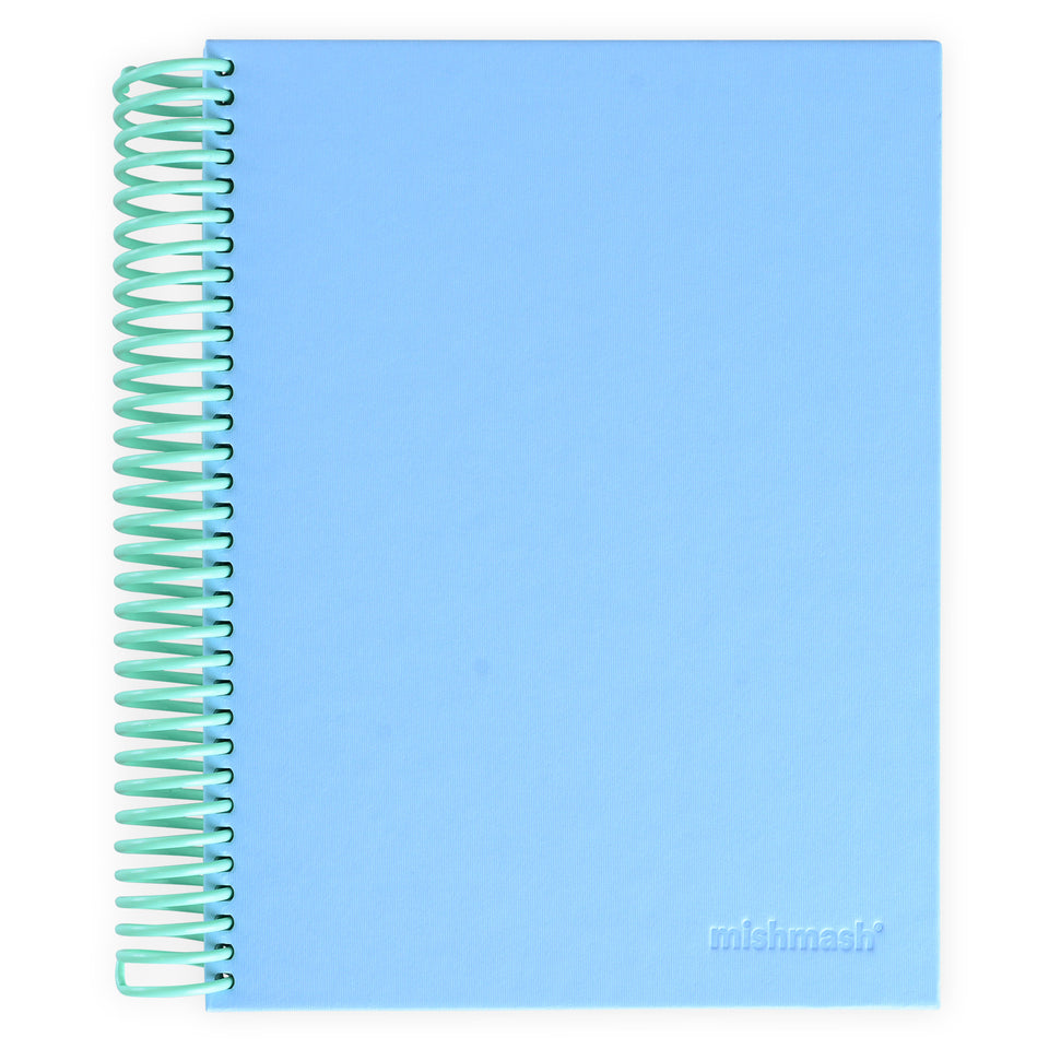 mishmash Easy Breezy Notebook | Lavender Dot Grid, Sky Blue Lined or Grey Blank Sky Blue Lined