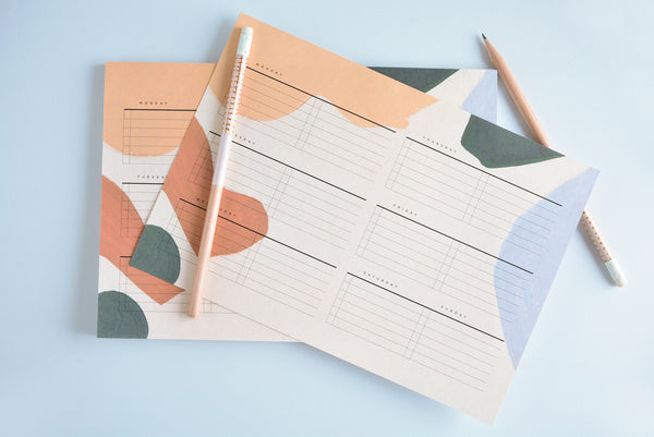 Moglea Alma Weekly Planning Pad - GREER Chicago Online Stationery Shop