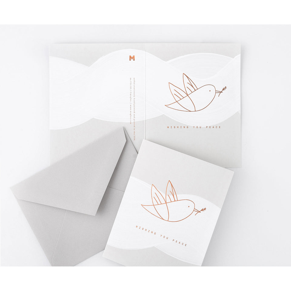 Moglea White Dove Holiday Cards Boxed