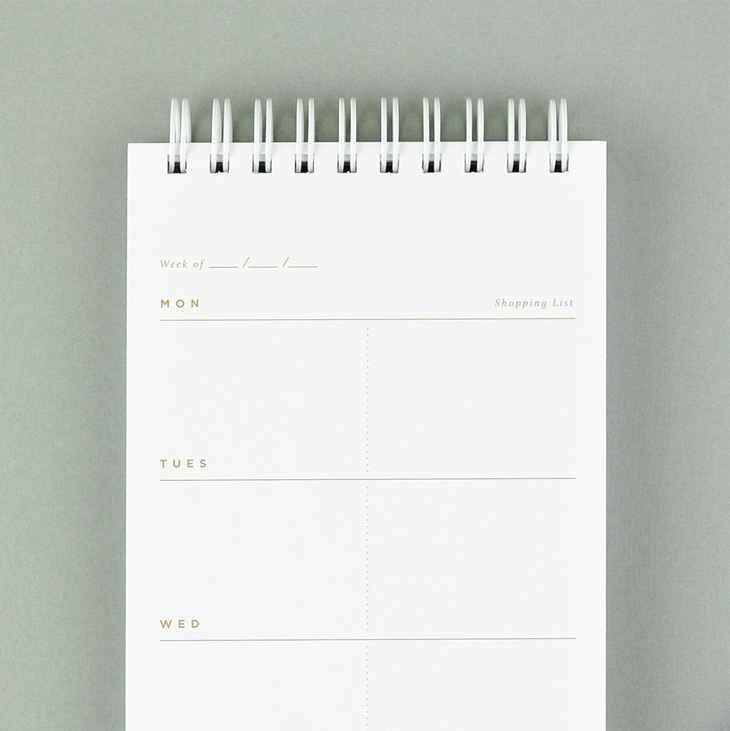 Moglea Hand Painted Meal Planner Black Stripe - GREER Chicago Online Stationery Shop