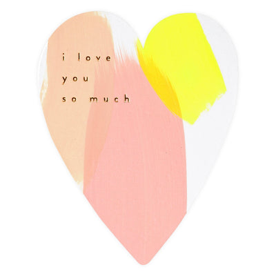 Moglea I Love You So Much Heart Greeting Card - GREER Chicago Online Stationery Shop