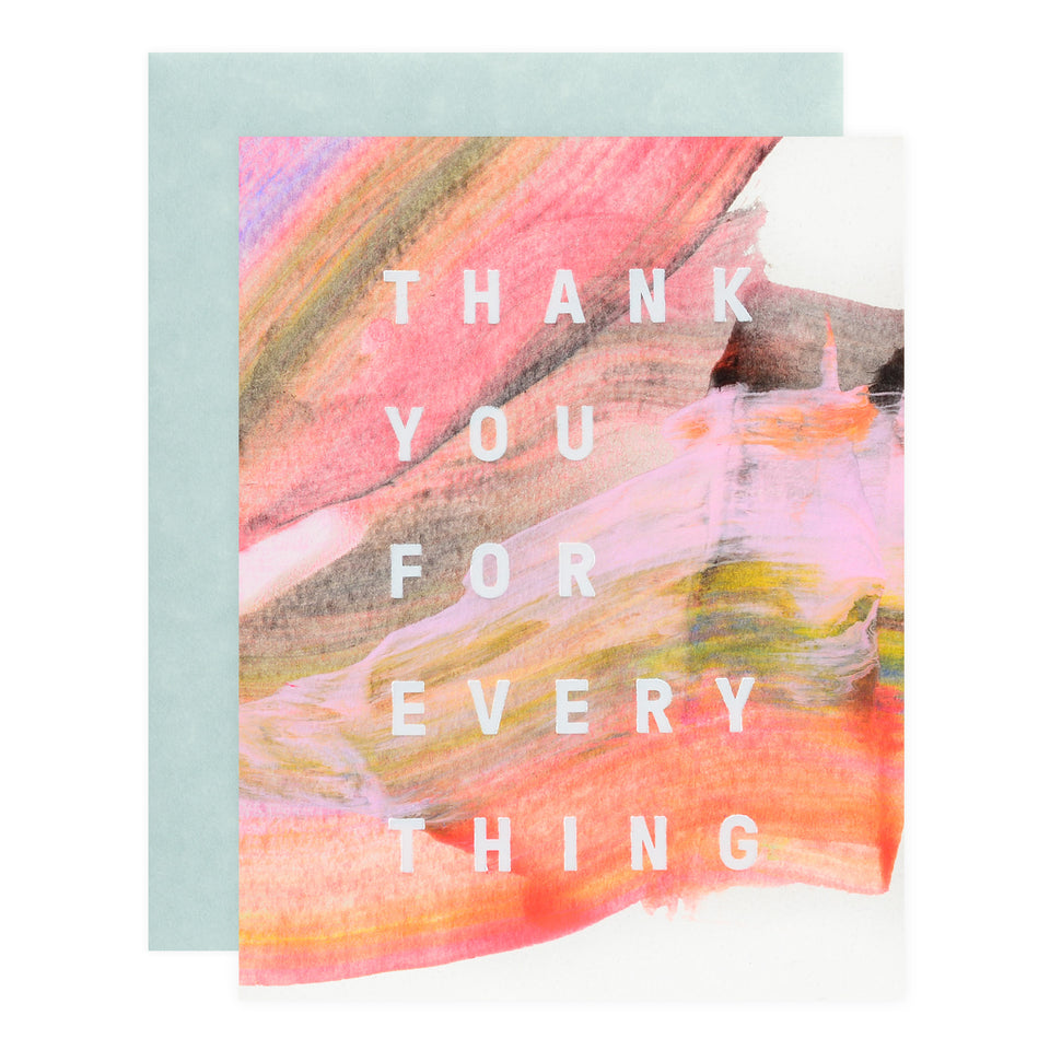 Moglea Hand-Painted Rainbow Thank You  Card