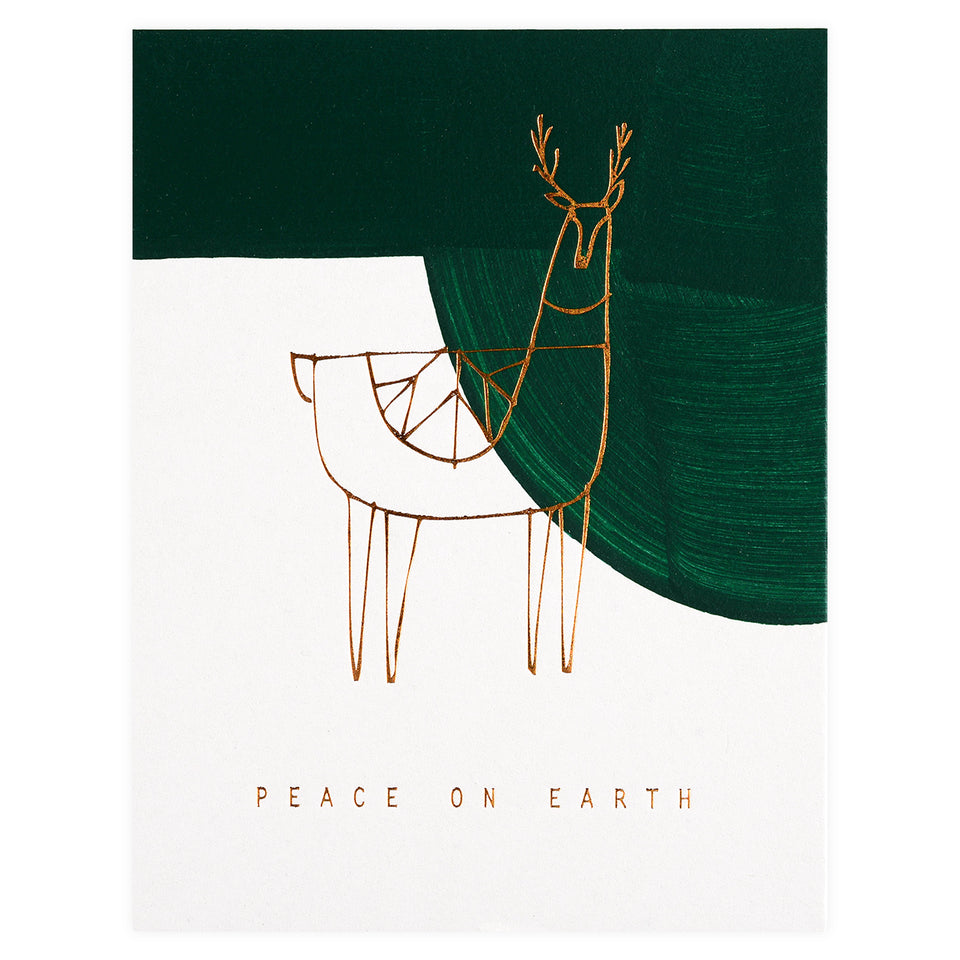Moglea Reindeer Peace Holiday Cards Boxed