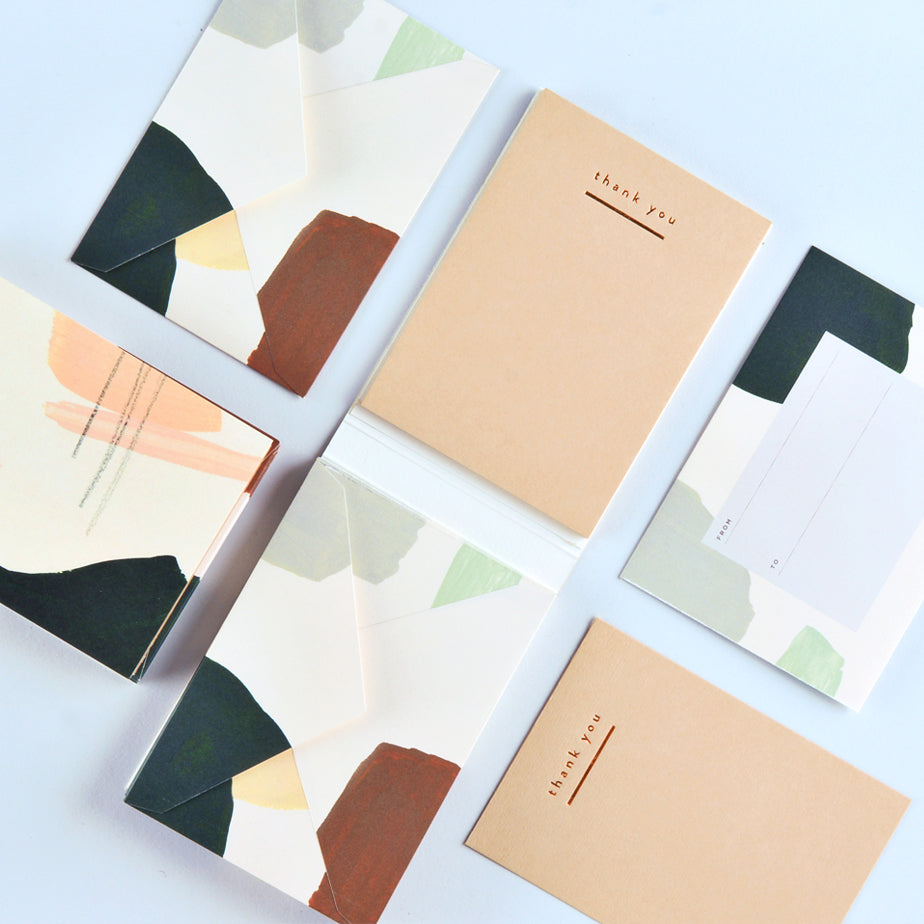 Moglea Sandstone Letterquette Flat Thank You Cards