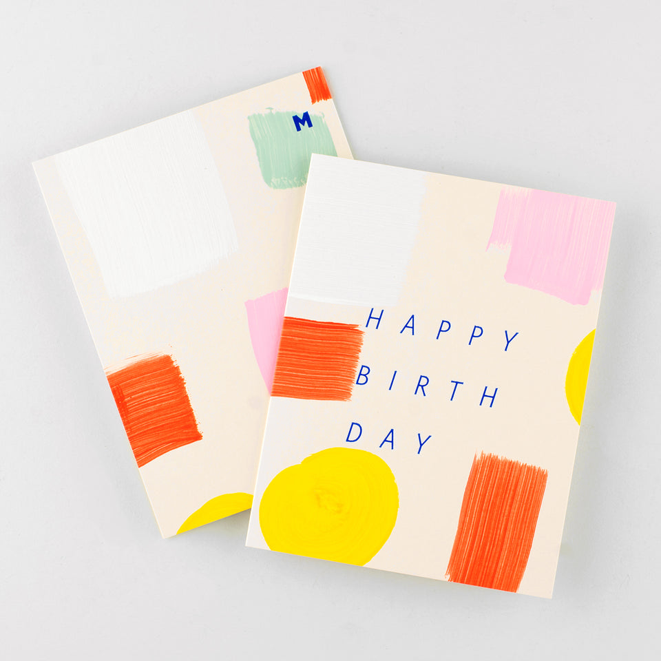 Moglea Spectrum Hand-Painted Birthday Card