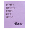 Ink Meets Paper Mom Attributes Mother's Day Card - GREER Chicago Online Stationery Shop