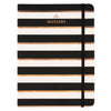 Mossery Black Stripe & Rose Gold Foil Notebook Ruled - GREER Chicago Online Stationery Shop