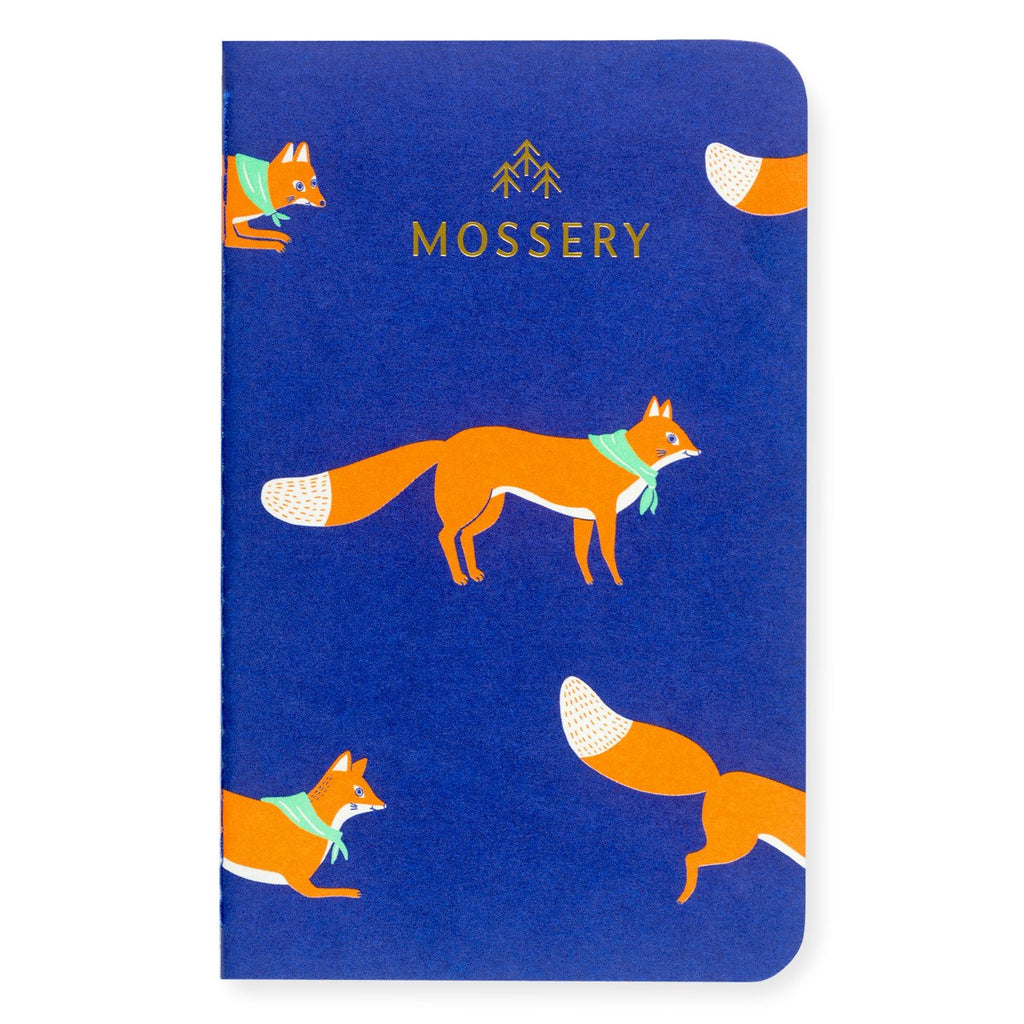 Jumping Foxes Pocket Notebook By Mossery