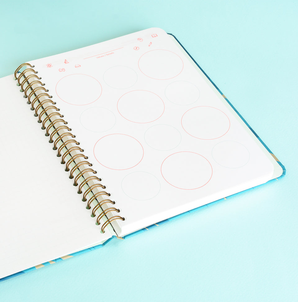 Mossery Wire-bound Notebook Camellia Dot Grid