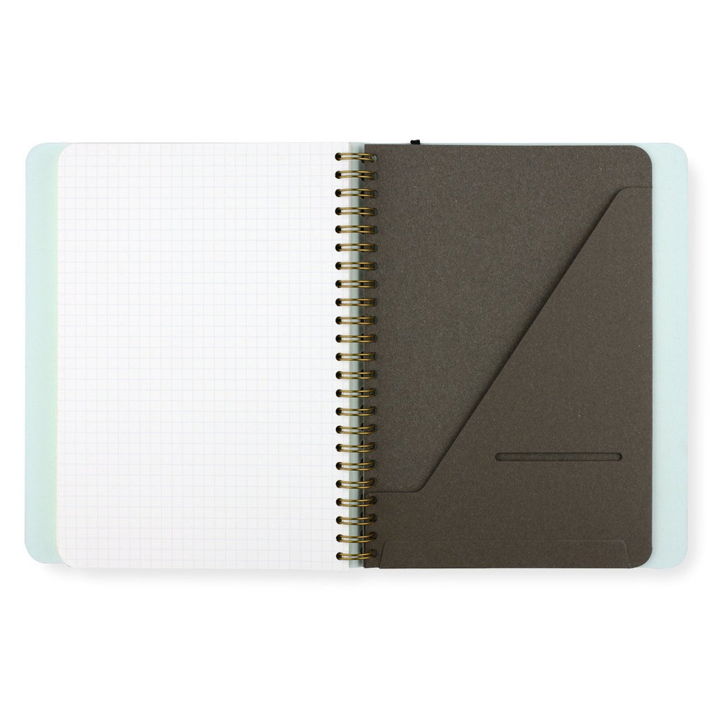 Mossery Biscuit & Blue Rose Gold Foil Notebook | Ruled, Grid or Dot Grid
