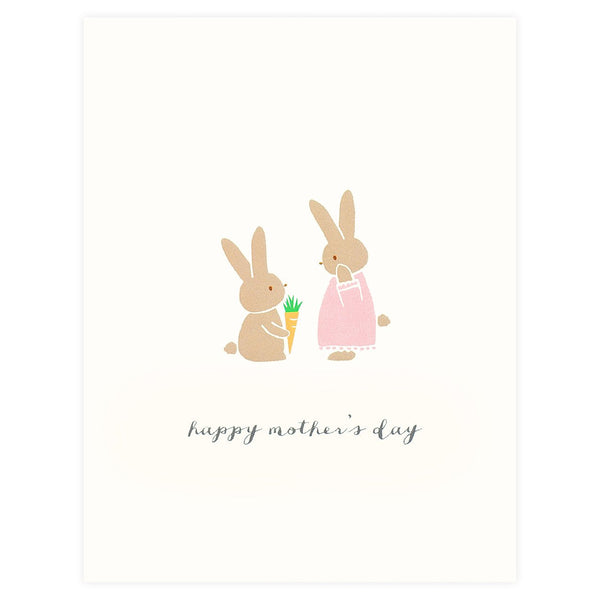 Happy Mother's Day Bunny Card - GREER Chicago Online Stationery
