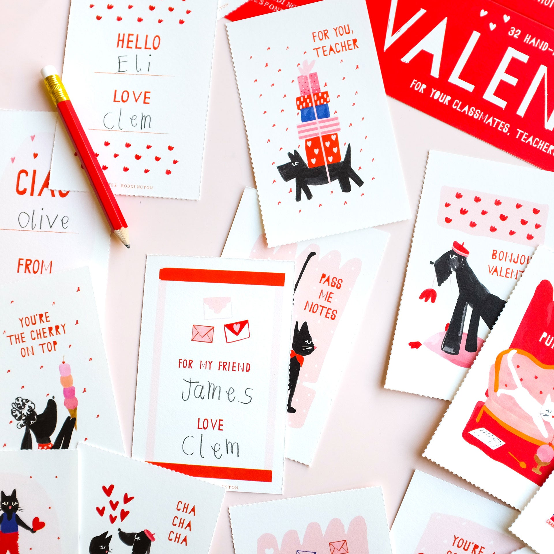 Meow & Woof Class Valentines Set of 32