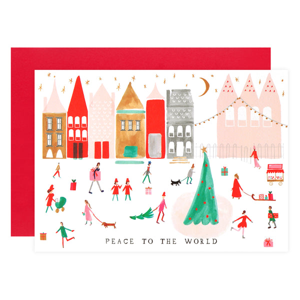 Mr. Boddington's Studio Peace to the Whole World Holiday Cards Boxed - GREER Chicago Online Stationery Shop