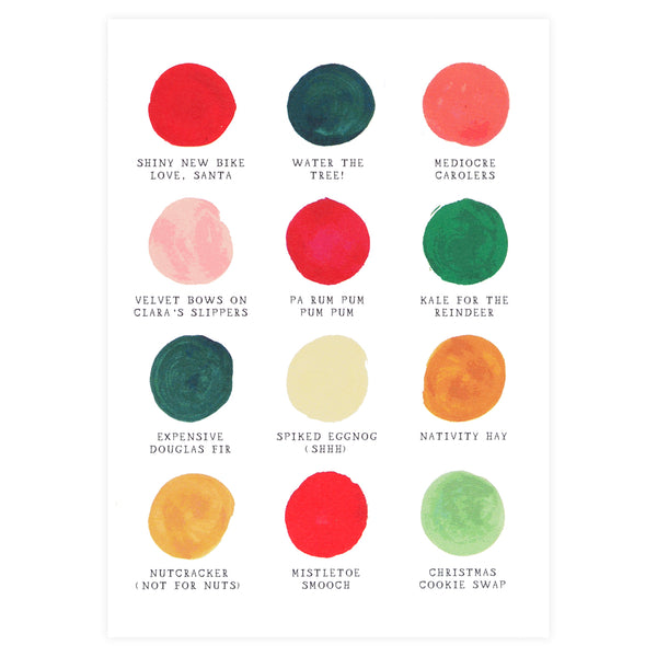 Mr. Boddington's Studio Christmas Color Palette Boxed Cards - GREER Chicago Online Stationery Shop
