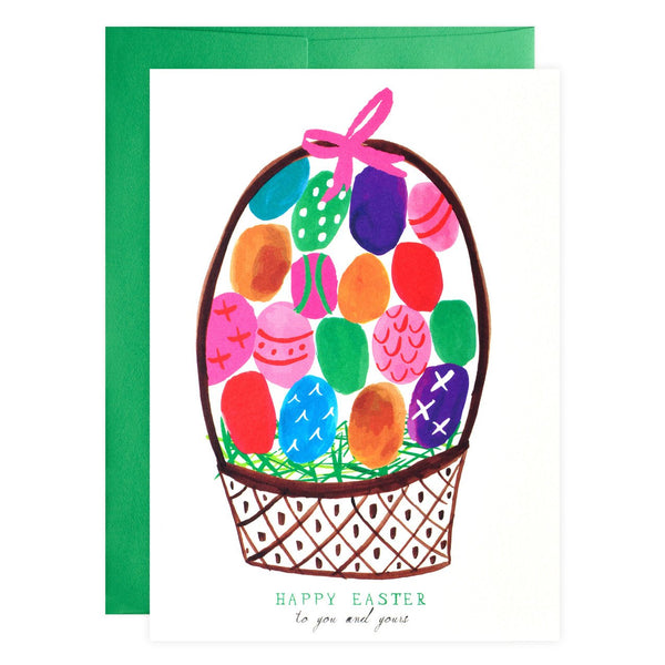 Dyed Easter Eggs Greeting Card